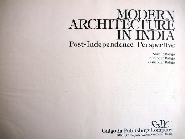 1   9Sarbjit Bahga   Books   Modern architecture in India  Post  . Post Modern Buildings In India. Home Design Ideas